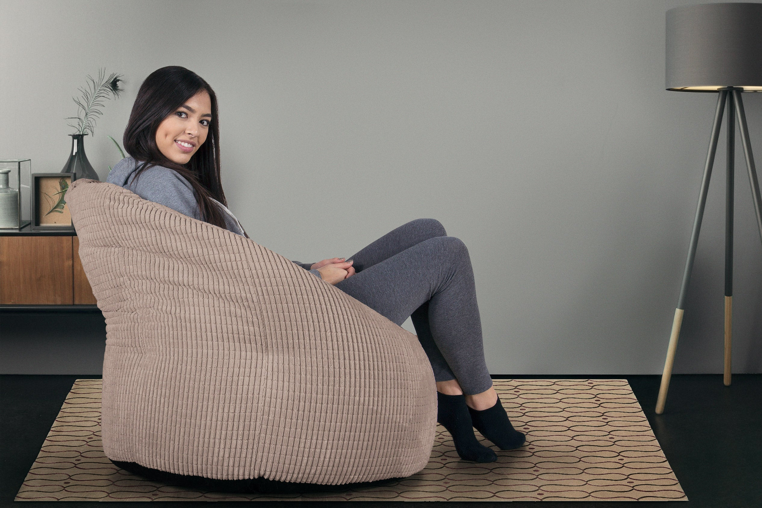 Cuddle Up Bean Bag Chair - Elements Mink