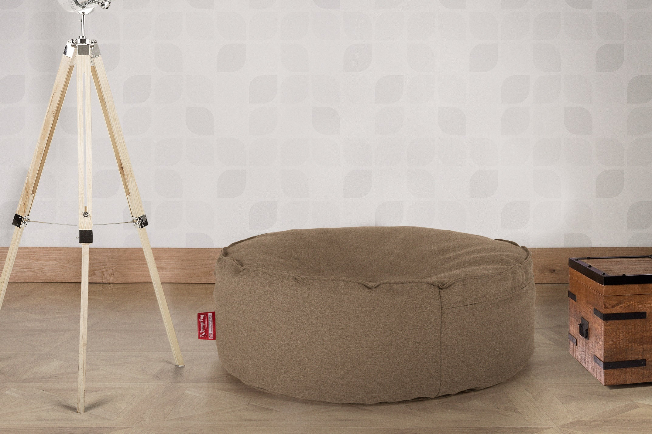 Large Round Pouffe - Interalli Biscuit