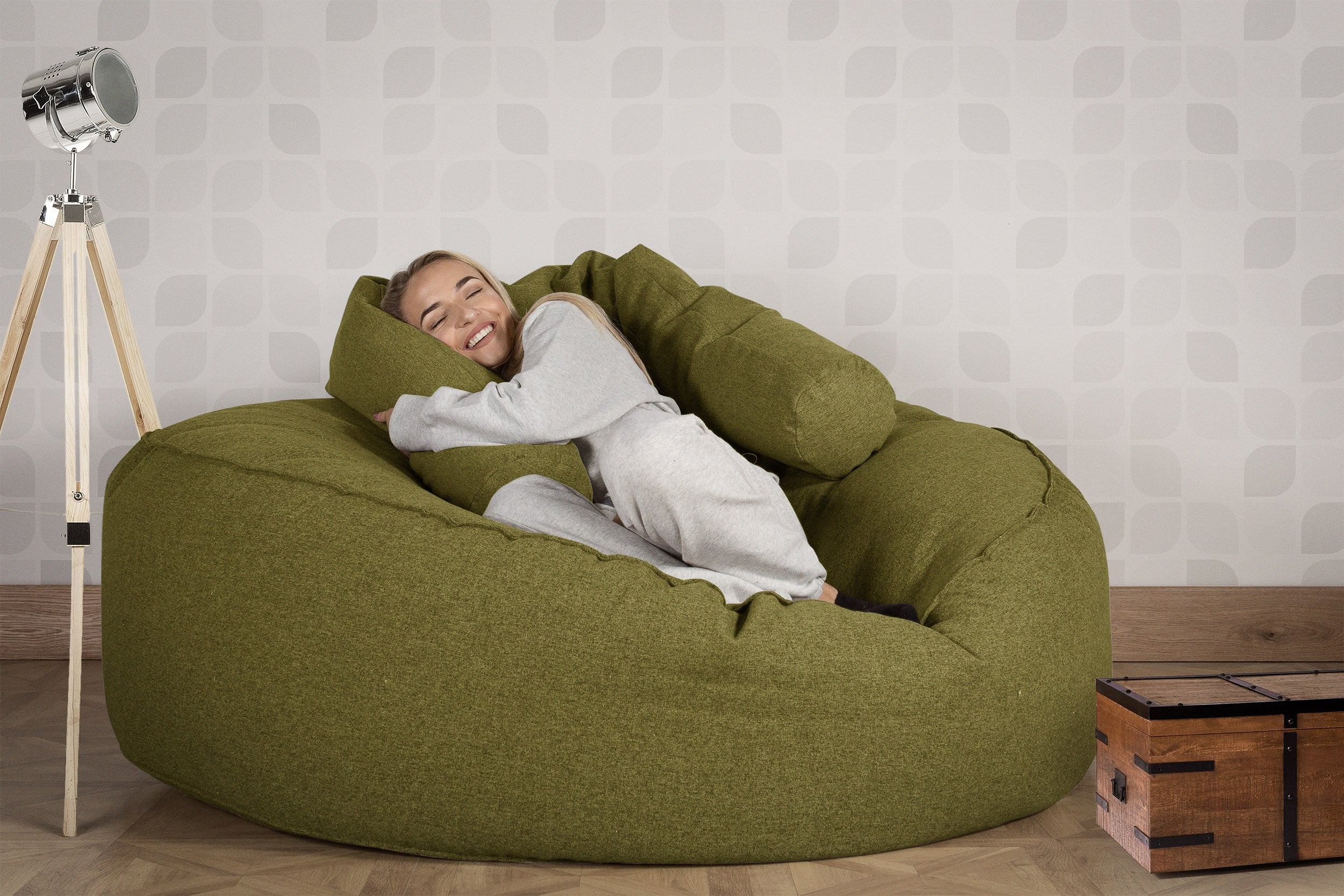 Mega Mammoth Bean Bag Sofa - Interalli Lime Green