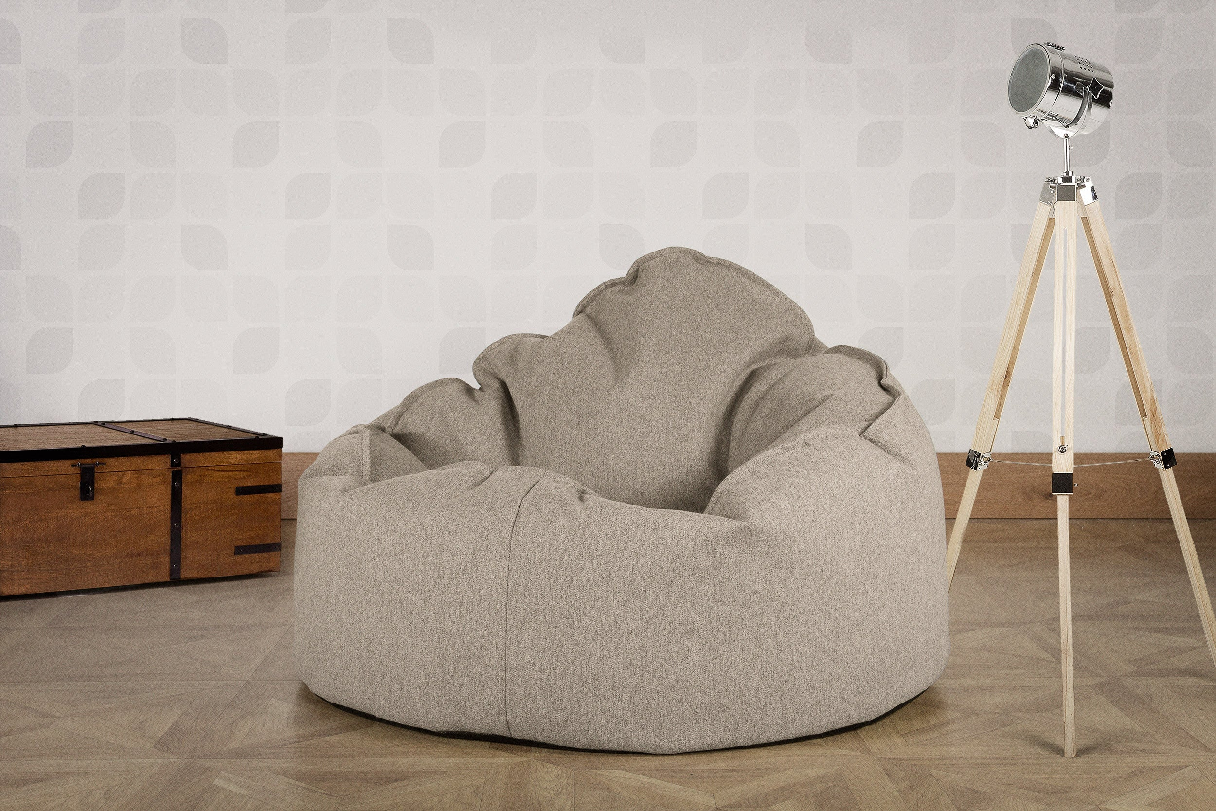 Mini Mammoth Bean Bag Chair - Interalli Silver