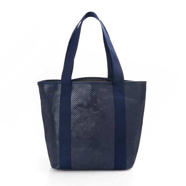 Baby Daddy in Navy Perforated Leather
