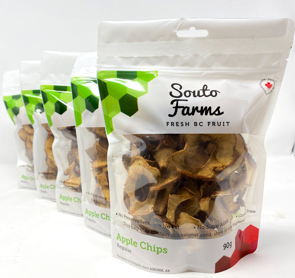 Souto Farms BC Dehydrated Natural Apple Chips