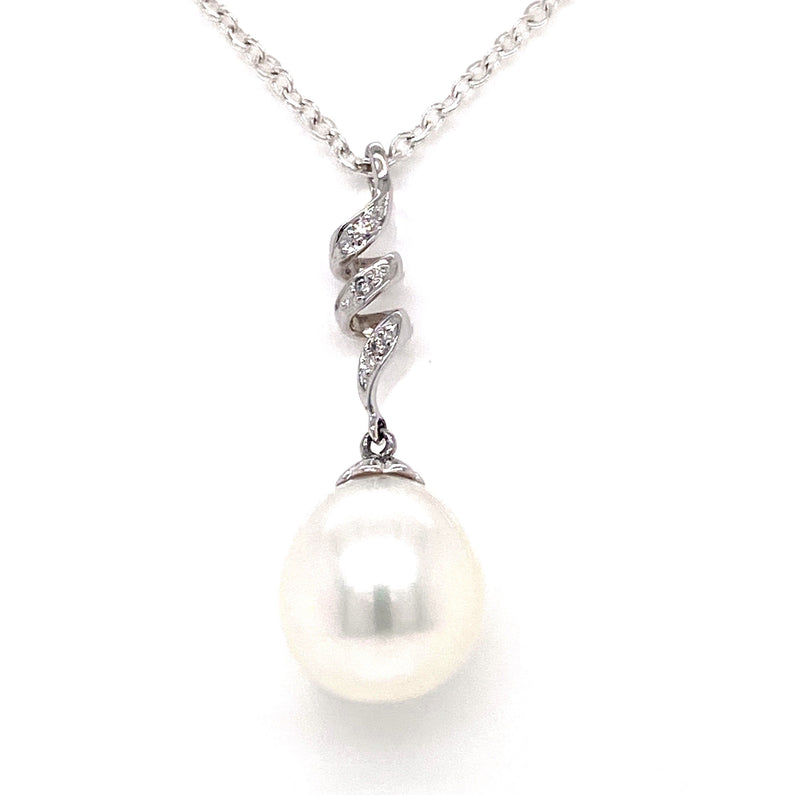 18CT White Gold Pearl Pendant