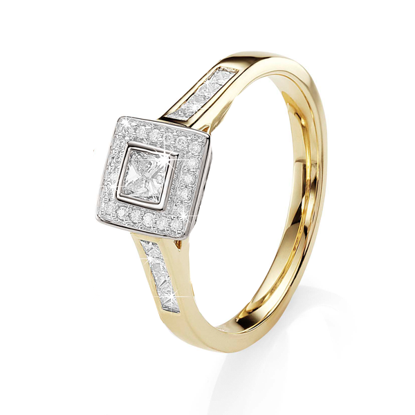 18Ct Yellow Gold 0.50Ct Diamond Engagement Ring