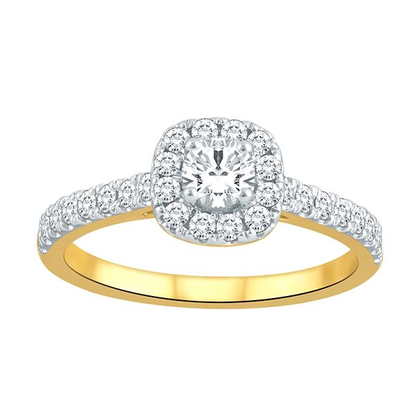 18Ct Yellow Gold 0.70Ct Diamond Ring