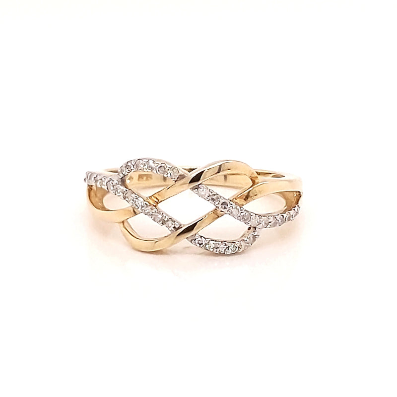 9ct Yellow Gold Lab Diamond Dress Ring