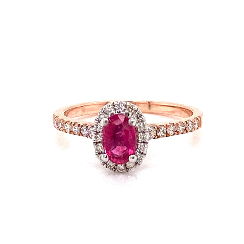 9CT Rose Gold Ruby Ring