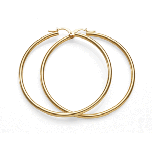 9Ct Yellow Gold 40Mm Polished Hoop Earrings