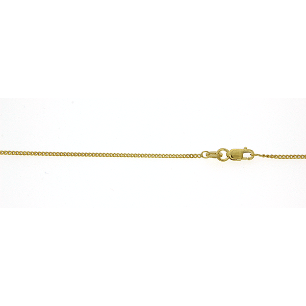 9Ct Yellow Gold 50Cm Curb Pendant Chain