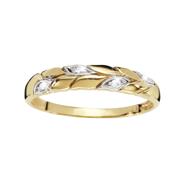 9Ct Yellow Gold Diamond Promise Ring