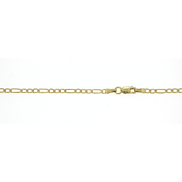 9Ct Yellow Gold Figaro Chain 50Cm