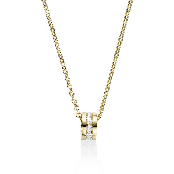 9Ct Yellow Gold 0.35Ct Diamond Pendant