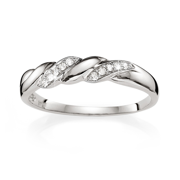 9Ct White Gold Diamond Promise Ring