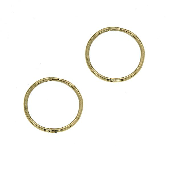 9Ct Yellow Gold Medium Plain Sleeper Earrings