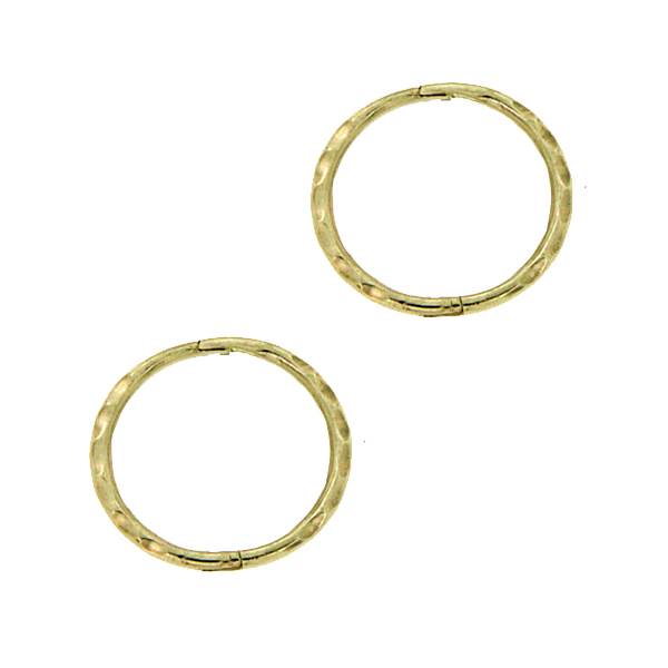 9Ct Yellow Gold Small Facet Sleeper Earrings