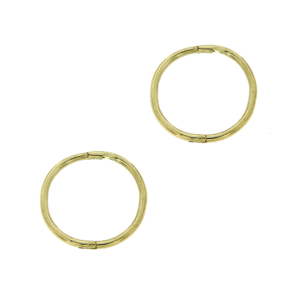 9Ct Yellow Gold Small Plain Sleeper Earrings