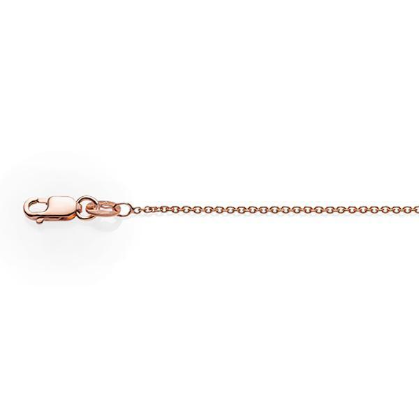 9Ct Rose Gold 45Cm Cable Chain