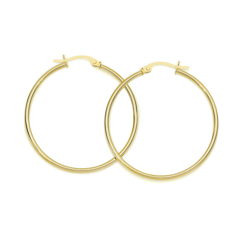 9Ct Yellow Gold Polished 30Mm Hoop Earrings