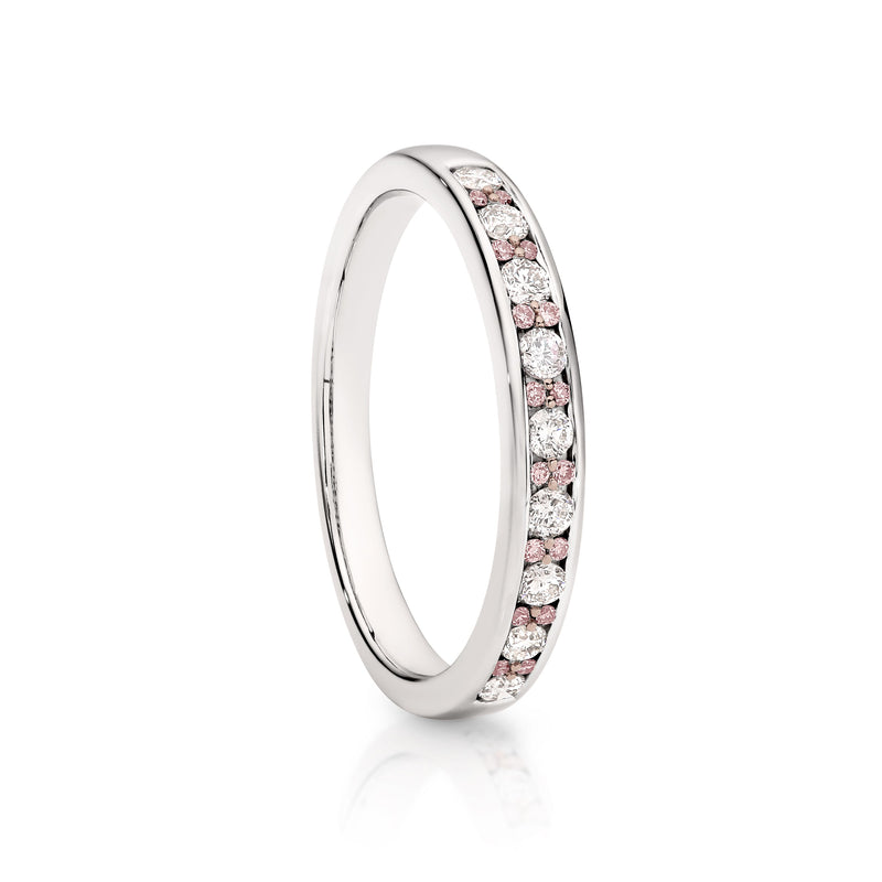 18Ct White Gold 0.33Ct Australian Pink Diamond Ring