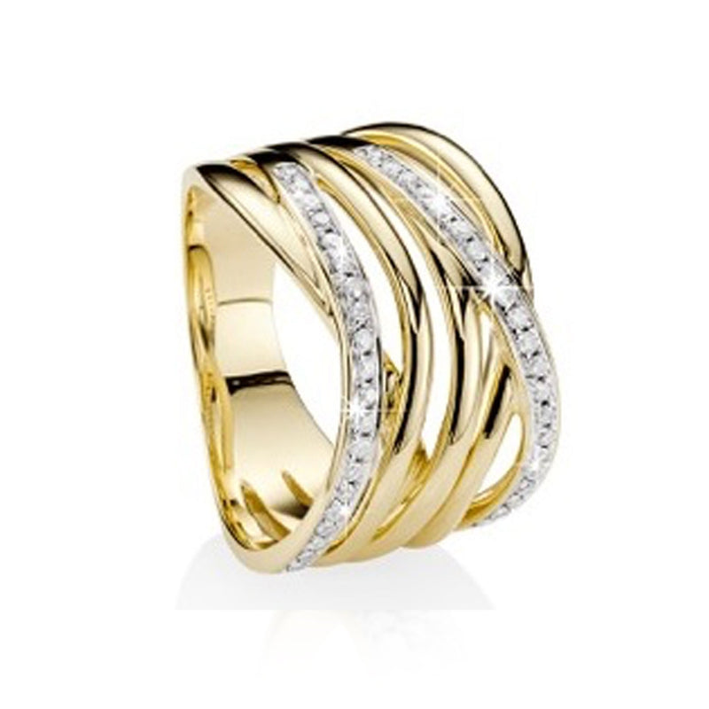 9Ct Yellow Gold 0.30Ct Diamond Ring
