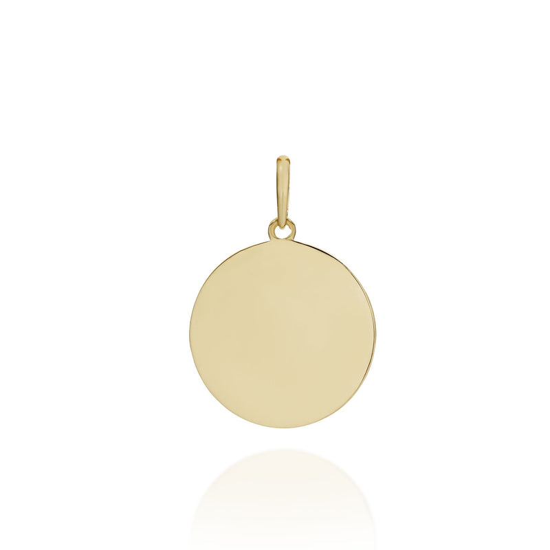 9Ct Yellow Gold Engravable Pendant
