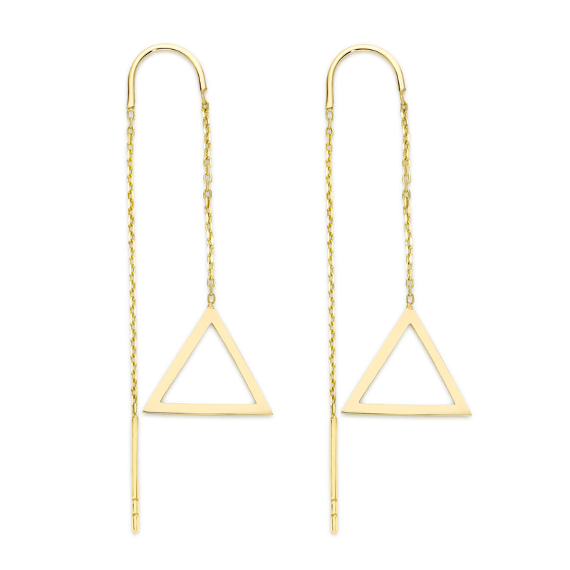 9Ct Yellow Gold Geometric Threads