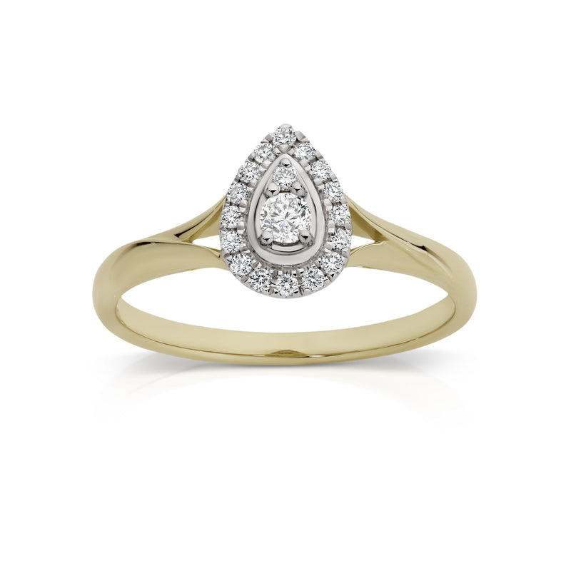9Ct Yellow Gold 0.20Ct Diamond Ring