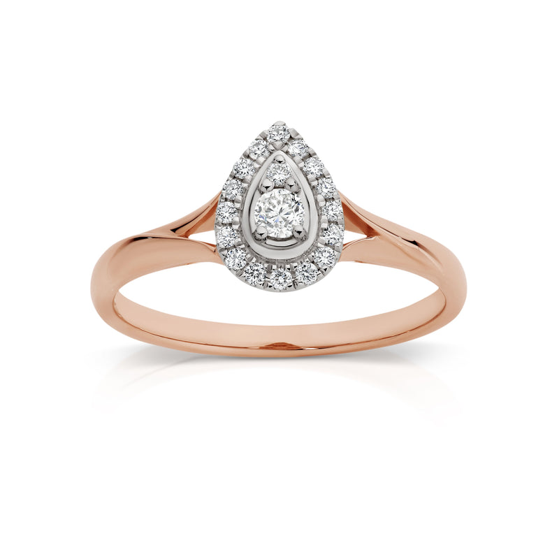9Ct Rose Gold 0.20Ct Diamond Ring
