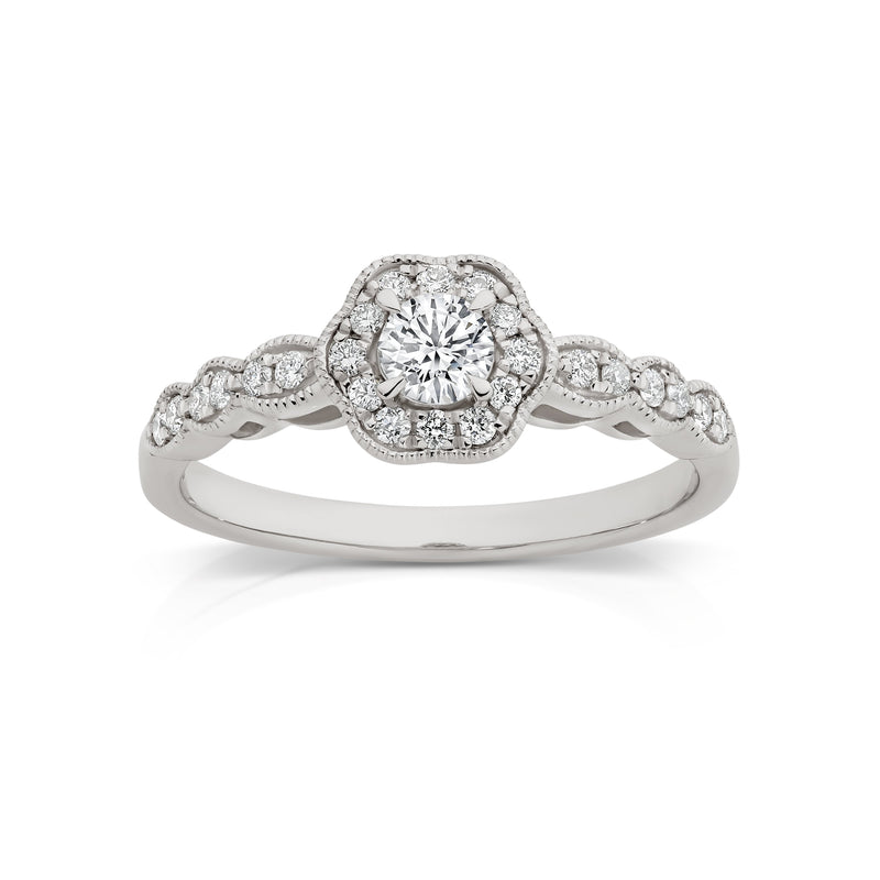 18Ct White Gold 0.41Ct Diamond Ring