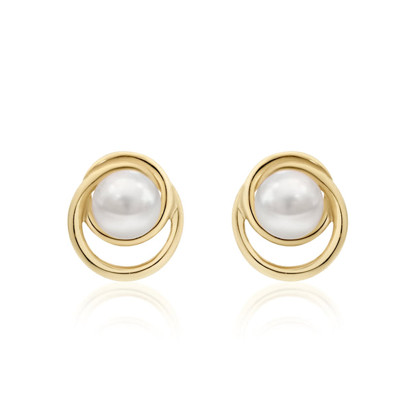 9Ct Gold Freshwater Pearl Stud Earrings
