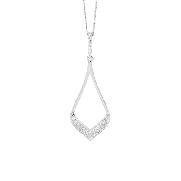 Sterling Silver cubic zirconia pendant on chain