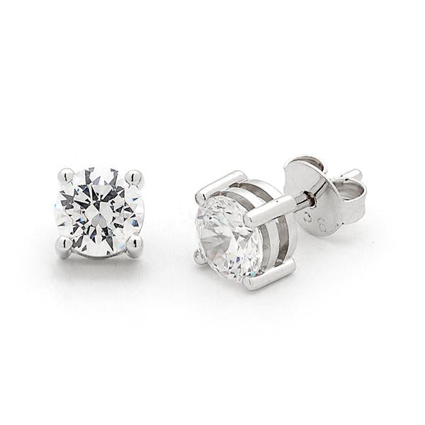 9ct white gold 0.20ct diamond earrings