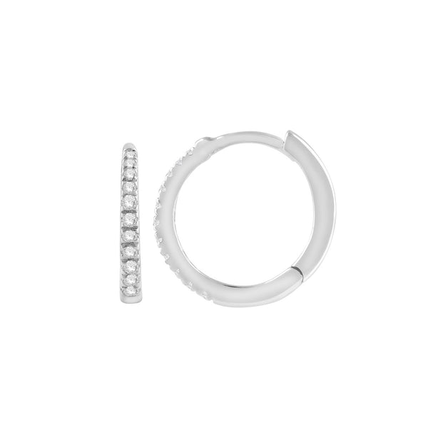 9ct white gold 0.11ct diamond huggies