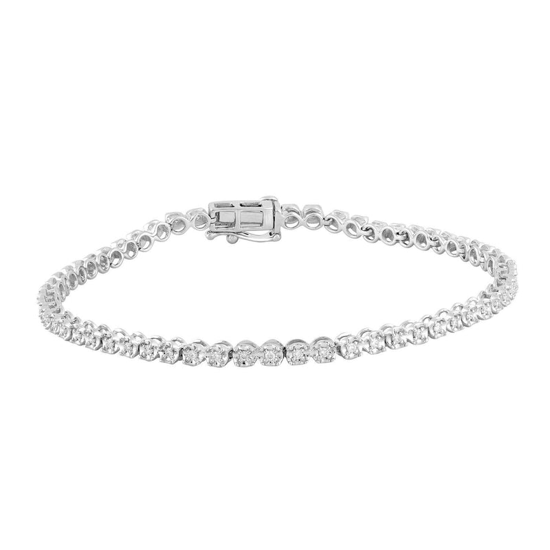 Bracelet with 0.48ct Diamonds in 9K White Gold