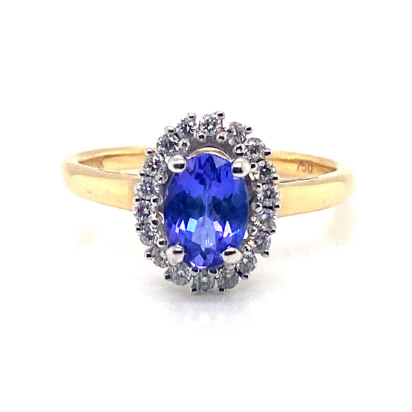 18CT Yellow Gold Tanzanite Ring