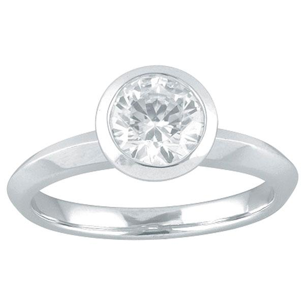 Round Brilliant Cut Bezel Set Engagement Ring
