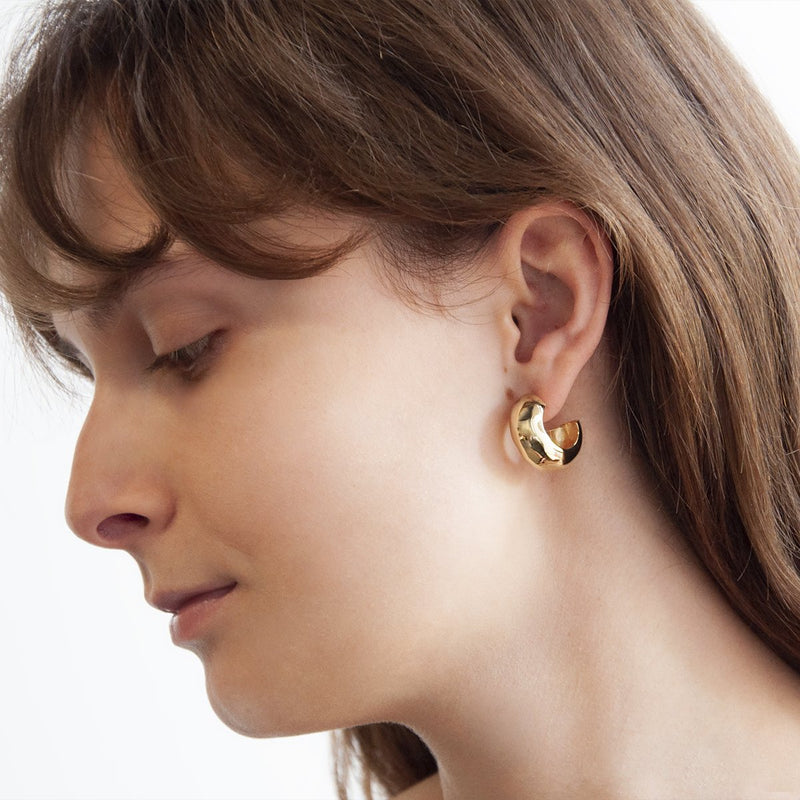 Najo Barber Gold Stud Earring