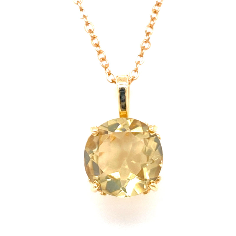 10ct Yellow Gold Handmade Quartz Pendant