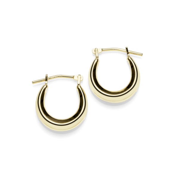9ct Yellow Gold Bonded Silver Creole Earrings