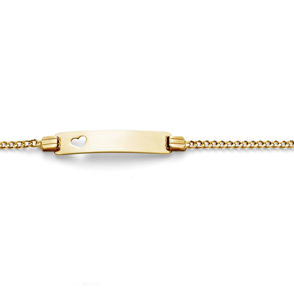9ct Yellow Gold-Bonded Silver Curb ID Bracelet