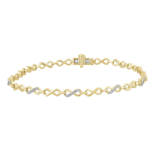 Bracelet with 0.2ct Diamonds in 9K Yellow Gold