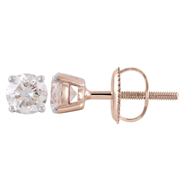 Stud Earrings with 0.75ct Diamonds in 9K Rose Gold