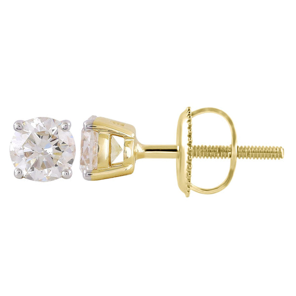 Stud Earrings with 0.75ct Diamonds in 9K Yellow Gold