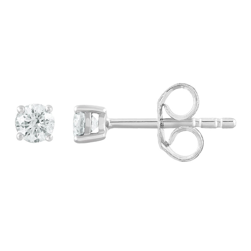 Stud Earrings with 0.25ct Diamonds in 9K White Gold