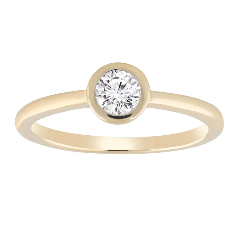 Solitaire Ring with 0.15ct Diamond in 9K Yellow Gold