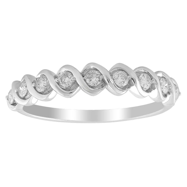 Ring with 0.2ct Diamond in 9K White Gold