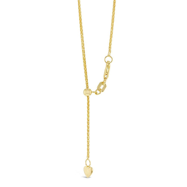 Wheat Chain with Slider in 9ct Gold