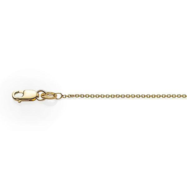 9Ct Yellow Gold 45Cm Double Cable Pendant Chain