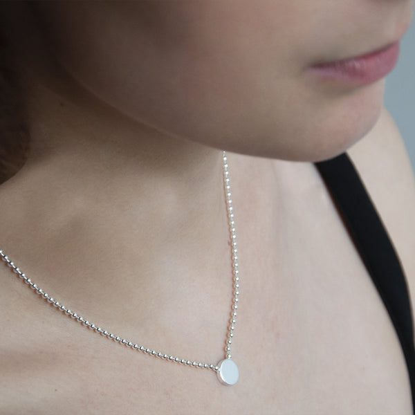 Najo Sterling Silver Polly Disc Necklace