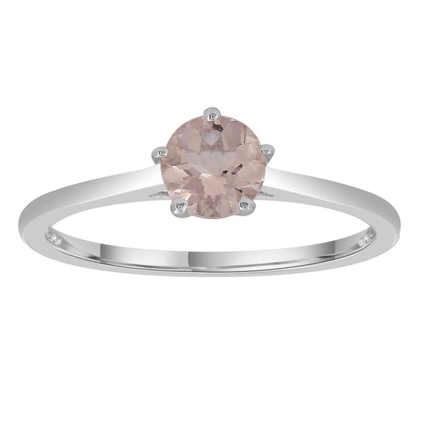 Morganite Ring set in 9K White Gold